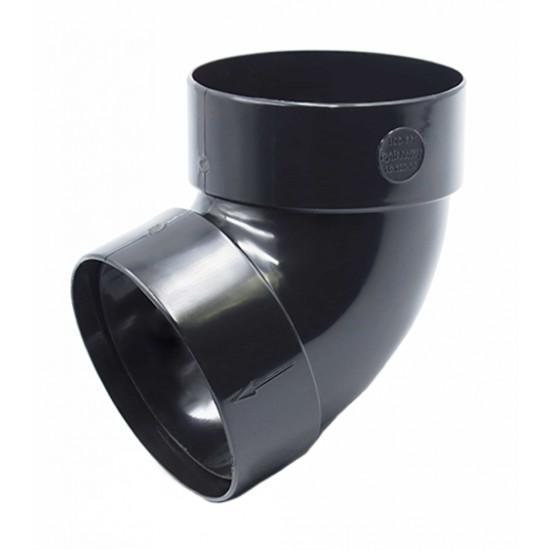 Отвод двохмуфтовый (колено) RainWay 130, угол 67° диаметр 100 мм, графитовый