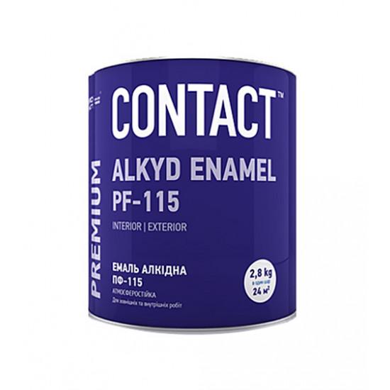 Эмаль ПФ-115 Днепр-Контакт (Dnipro Contact) черная, 2.8 кг