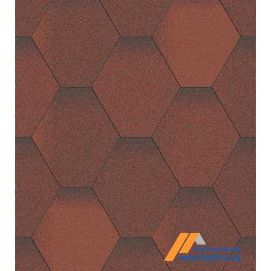 Гибкая черепица АКВАИЗОЛ (AQUAIZOL) Мозаика Огненная лава 3 кв.м.