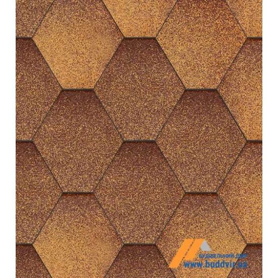 Гибкая черепица АКВАИЗОЛ (AQUAIZOL) Мозаика Осенний клен 3 кв.м.
