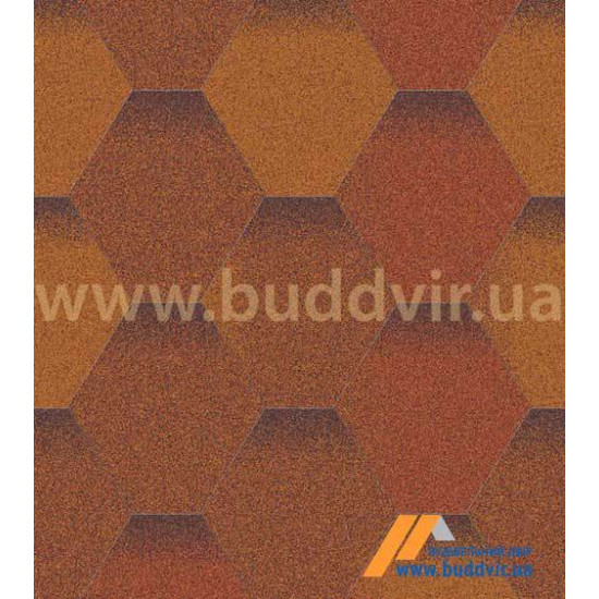 Гибкая черепица АКВАИЗОЛ (AQUAIZOL) Мозаика Теплый воск 3 кв.м.