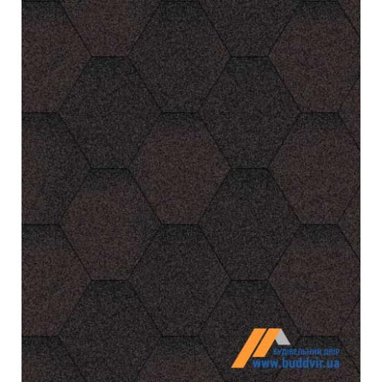 Гибкая черепица АКВАИЗОЛ (AQUAIZOL) Мозаика Коричневая ЭКО 3 кв.м.