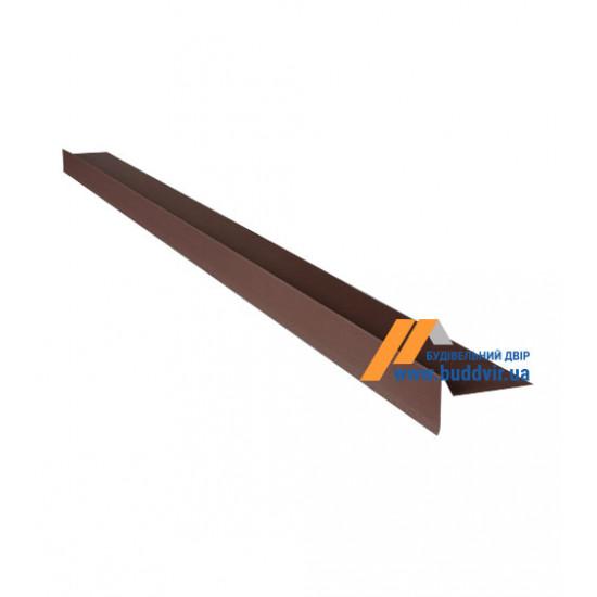 Фронтонный капельник №1 полиэстер RAL8017 (коричневый), 2000 мм