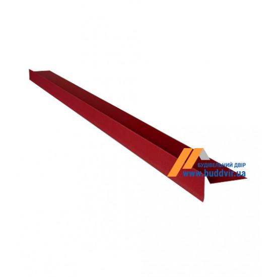 Фронтонный капельник №1 полиэстер RAL3005 (красный), 2000 мм