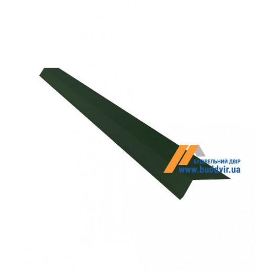Карнизный капельник №1 полиэстер RAL6005 (зеленый), 2000 мм