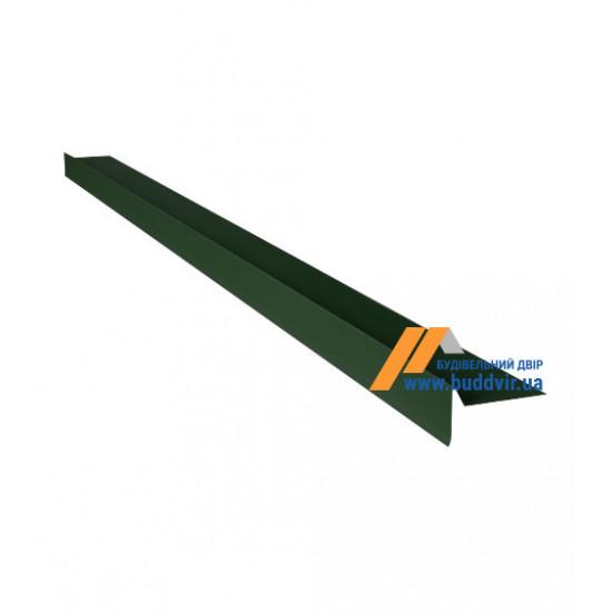 Фронтонный капельник №1 полиэстер RAL6005 (зеленый), 2000 мм
