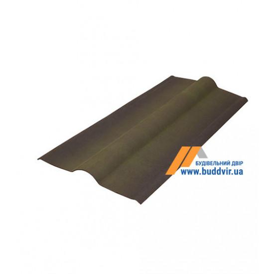 Гребень черепица зеленый Ондулин (Ondulin) 1000 мм
