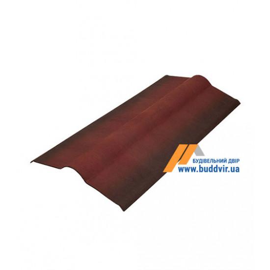 Гребень черепица красный Ондулин (Ondulin) 1000 мм