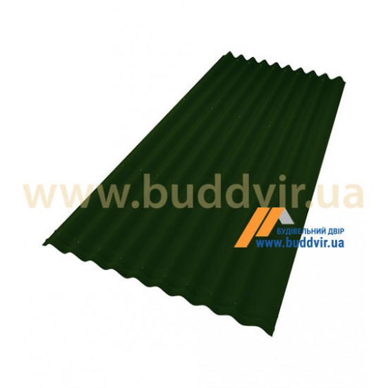 Лист зеленый Ондулин (Ondulin) 2000х950 мм