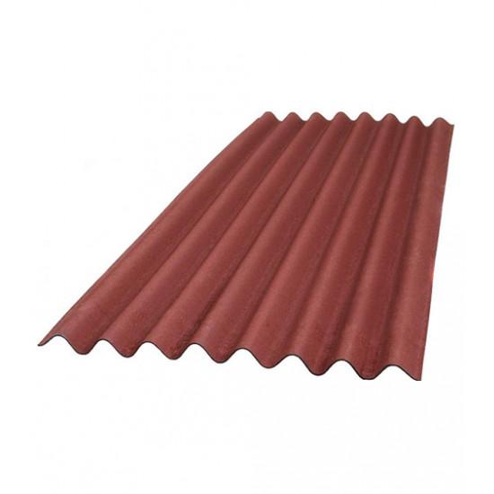 Лист красный Ондулин (Ondulin) 2000х950 мм