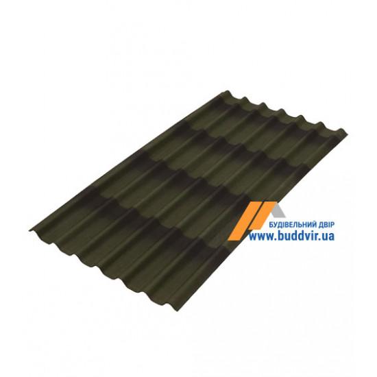Черепица лист зеленый Ондулин (Ondulin) 1950х950 мм
