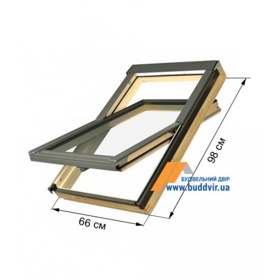 Мансардное окно Факро (Fakro) FTZ, 660*980 мм