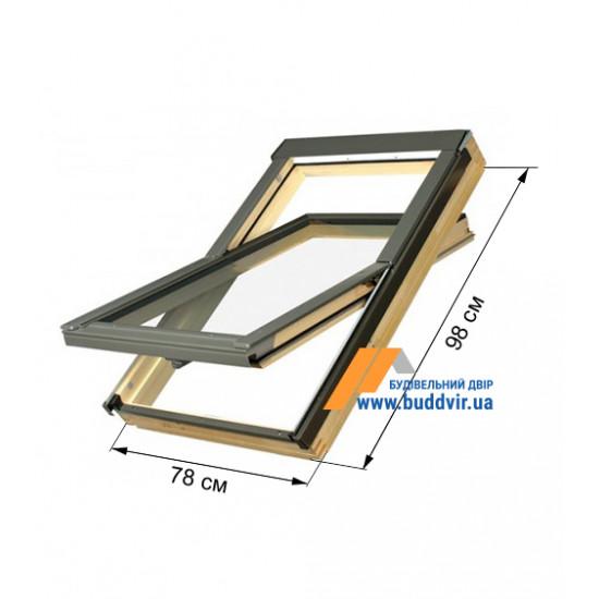 Мансардное окно Факро (Fakro) FTZ, 780*980 мм