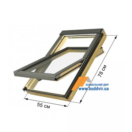 Мансардное окно Факро (Fakro) FTS-V U4, 550*780 мм