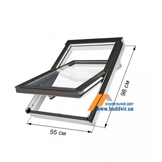 Мансардное окно Факро (Fakro) FTP-V U3 Z-Wawe, 550*980 мм