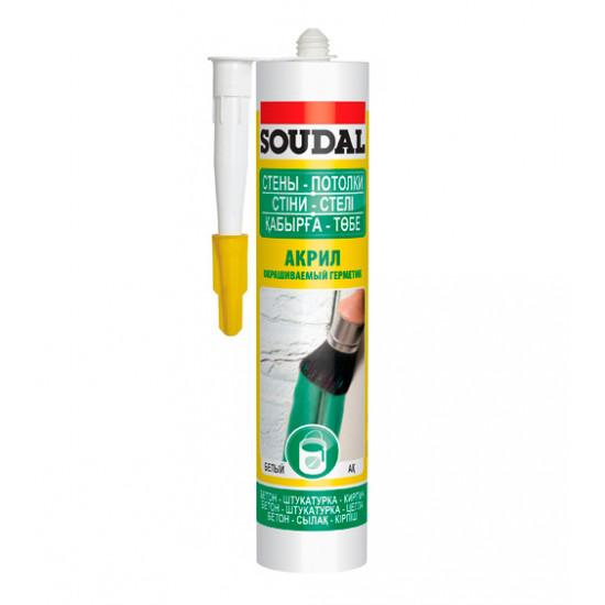 Акриловый герметик Соудал (Soudal) белый, 300мл