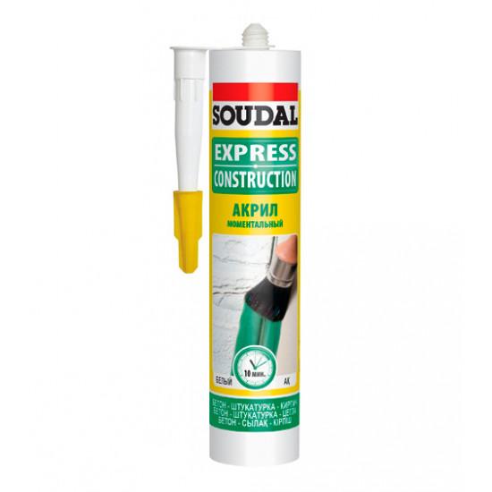 Акриловый герметик Соудал (Soudal) EXPRESS белый, 300мл