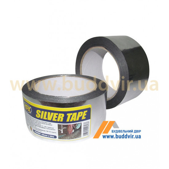 Лента металлизированная НРХ, Silver Tape ST5025 серебристая, 50мм*25м