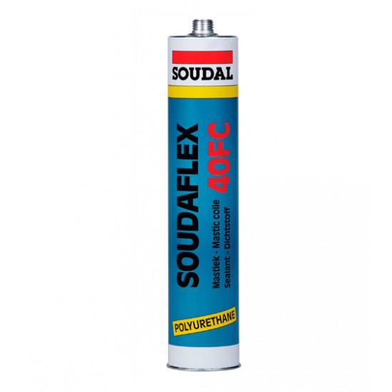 Полиуретановый герметик Соудал (Soudal) Soudaflex 40, белый, 600 мл