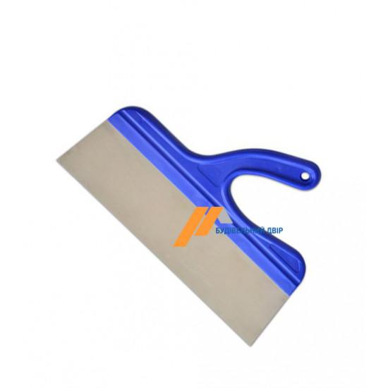 Шпатель нержавеющая сталь, изогнутая ручка, 350 мм