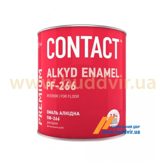 Эмаль для поля Днепр-Контакт ПФ-266, желто-коричневая, 2,8 кг