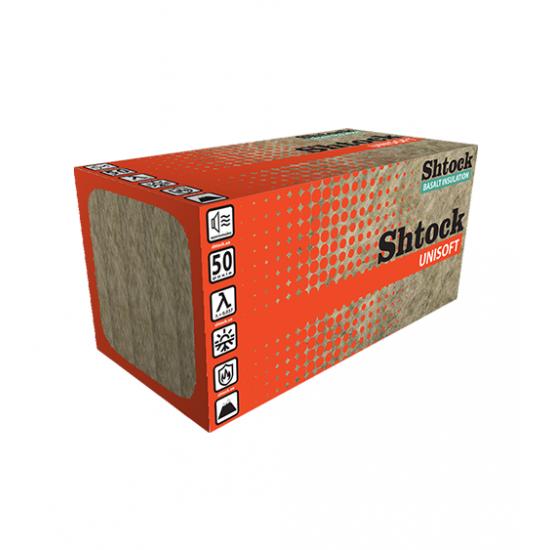 Базальтовый утеплитель Shtock Unisoft, 100*600*1000 мм, пл. 30, (3 м.кв.)